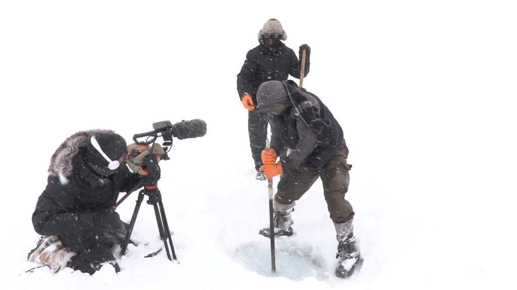Alex Galán filmando.