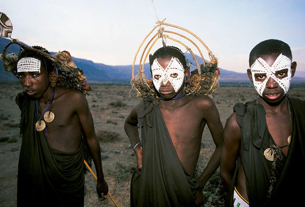 jóvenes masái