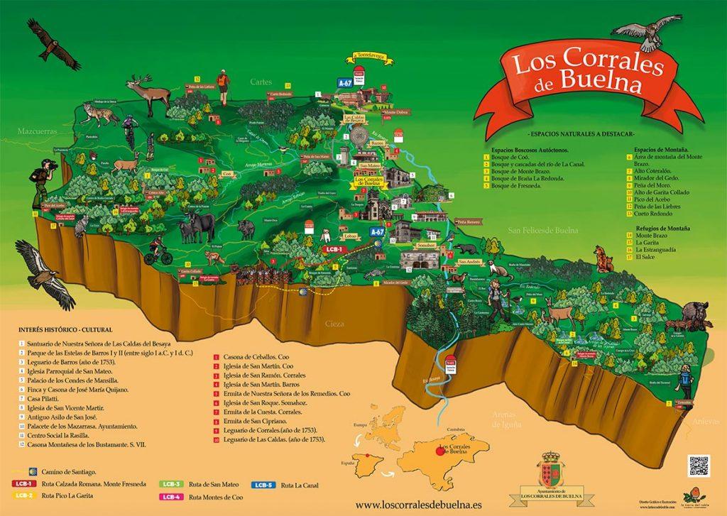 Mapas ilustrados de rutas